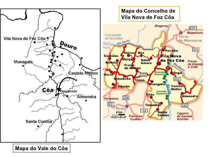 mapa de foz coa As Gravuras Rupestres de Foz Côa mapa de foz coa