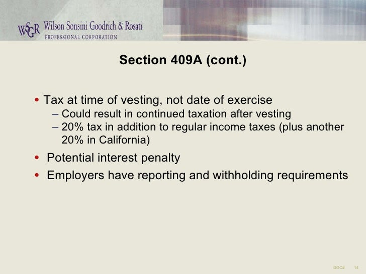 Income tax withholding stock options