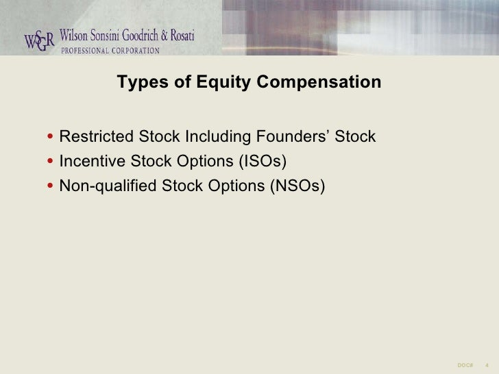 Non qualified stock options vs incentive stock options