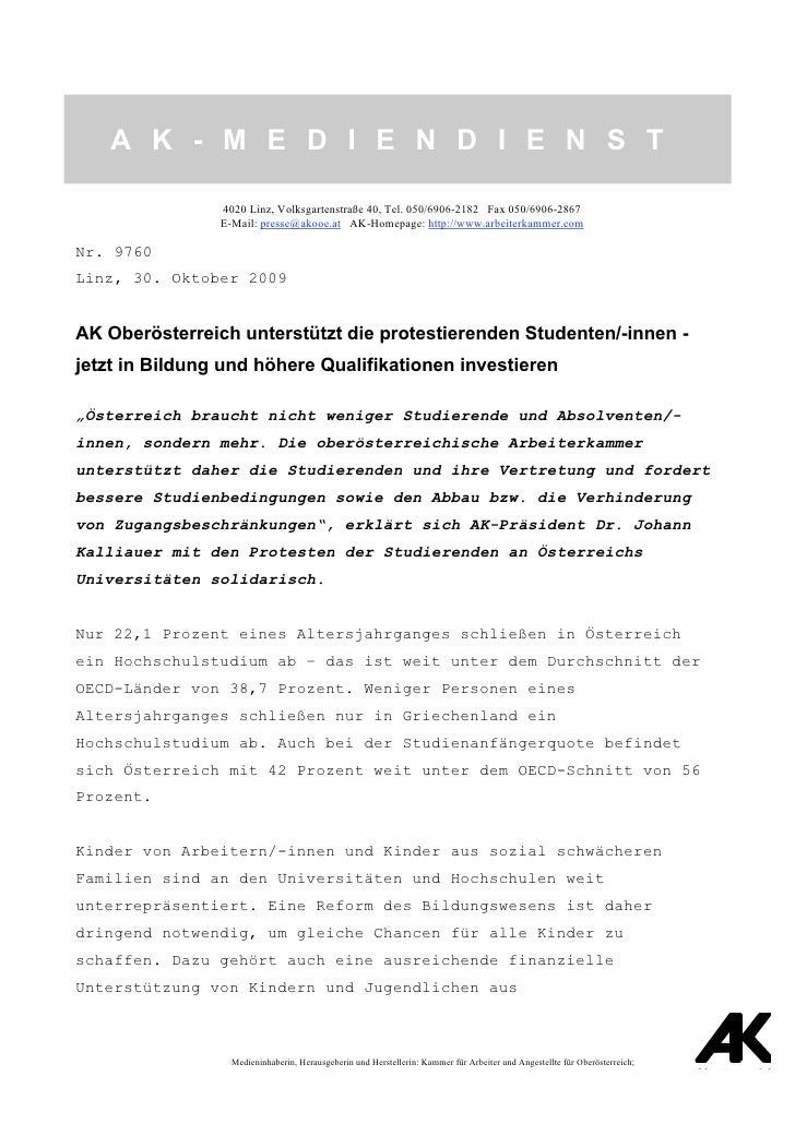 A K - M E D I E N D I E N S T                            4020 Linz, Volksgartenstraße 40, Tel. 050/6906-2182 Fax 050/6906-...