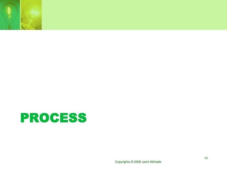 PROCESS                                               12           Copyrights © 2009 Jamil Alkhatib