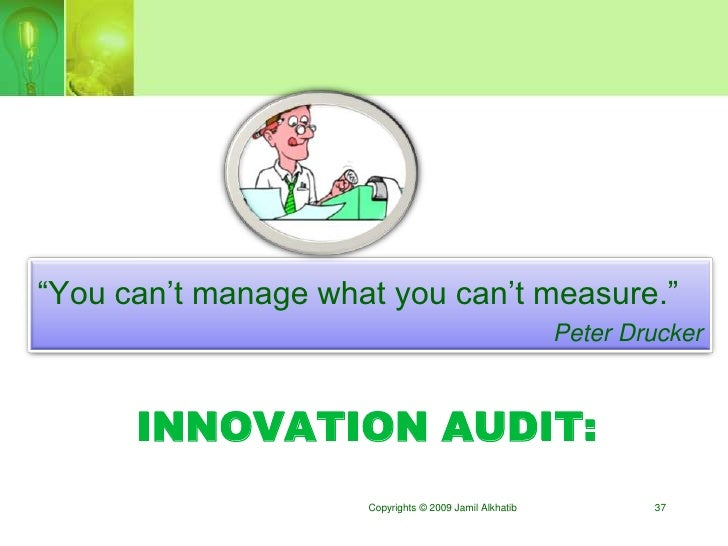 """""""You can""""t manage what you can""""t measure.""""                                                         Peter Drucker          ..."""