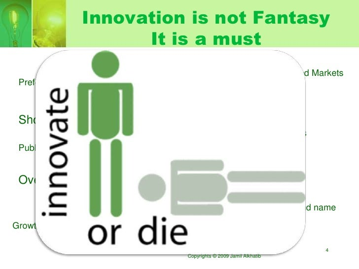 Innovation is not Fantasy                       It is a must                                                              ...