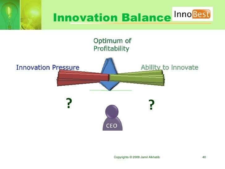 Innovation Balance      ?                              ?            Copyrights © 2009 Jamil Alkhatib   40