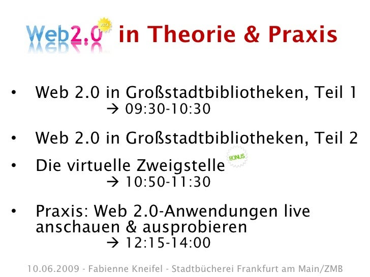 Web 2.0 in Theorie & Praxis