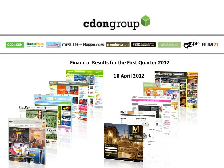 Financial	  Results	  for	  the	  First	  Quarter	  2012	                                                                 ...