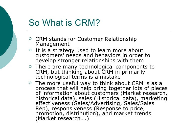 CRM with MIS