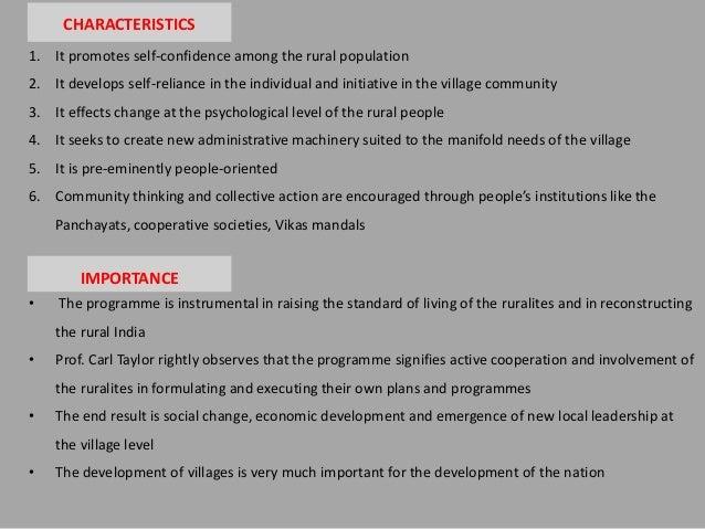 essay on community development programme