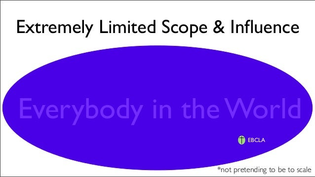 Extremely Limited Scope & Influence Everybody in the World *not pretending to be to scale EBCLA