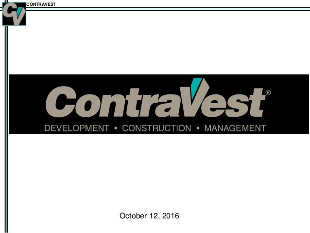 CONTRAVEST October 12, 2016