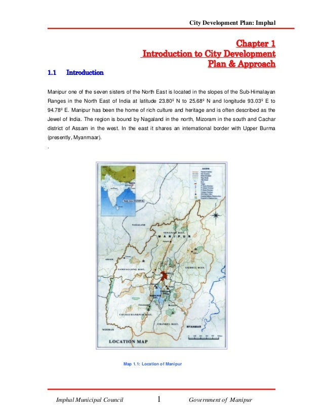 City Development Plan: Imphal                                                                             C h ap t e r 1  ...
