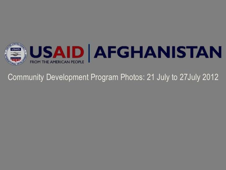 Community Development Program Photos: 21 July to 27July 2012