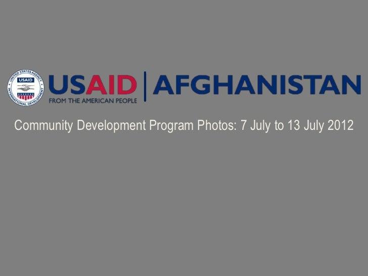 Community Development Program Photos: 7 July to 13 July 2012