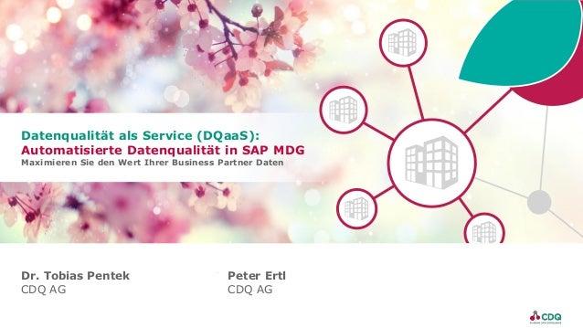 1 Datenqualität als Service (DQaaS): Automatisierte Datenqualität in SAP MDG Maximieren Sie den Wert Ihrer Business Partne...