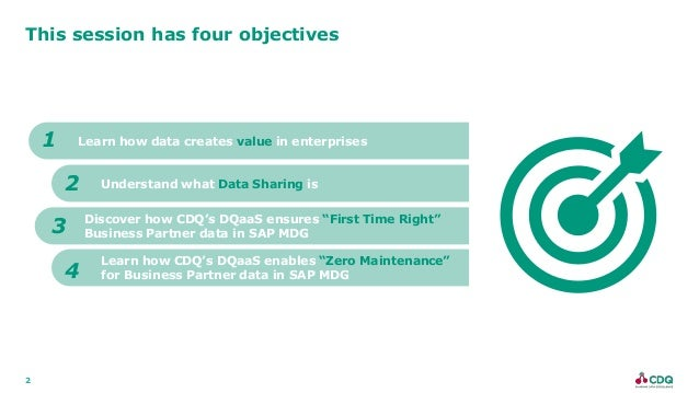 2 This session has four objectives Learn how data creates value in enterprises Understand what Data Sharing is 1 2 Discove...