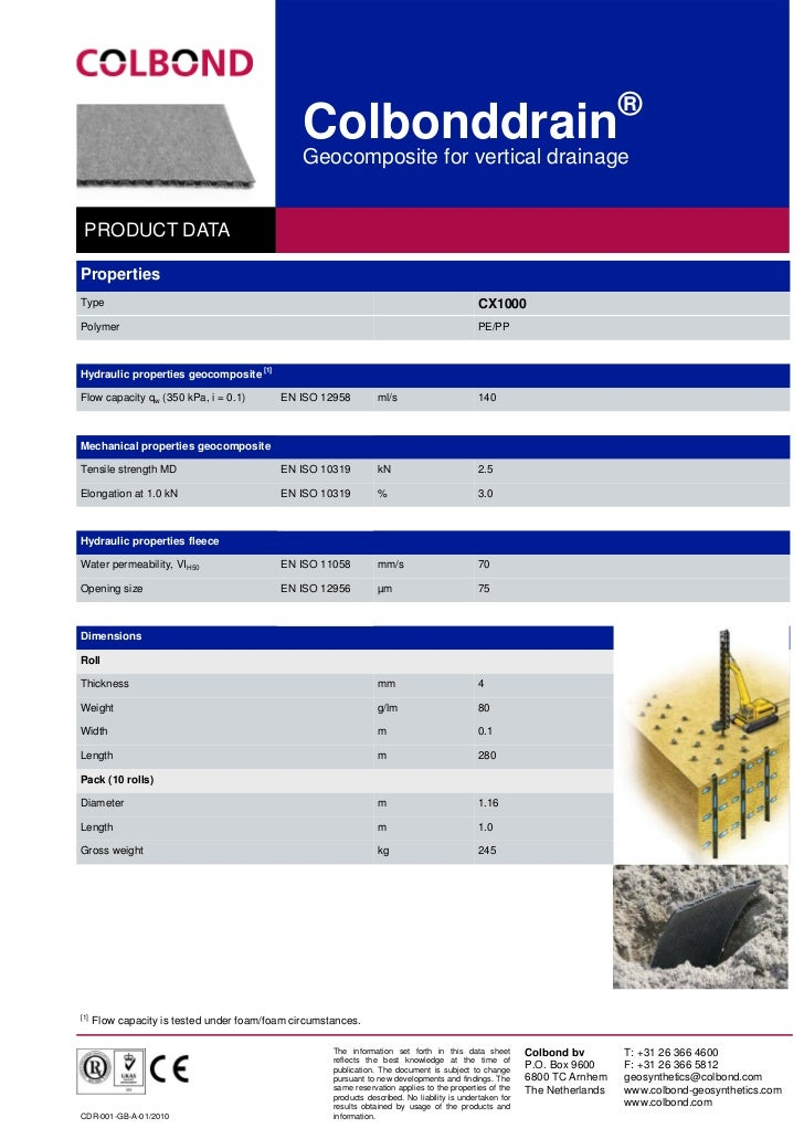 ®                                                Colbonddrain                                                Geocomposite ...