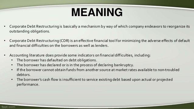 Corporate Debt Restructuring In India