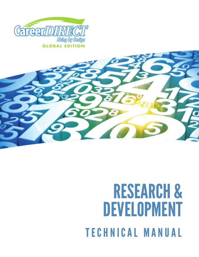 ReseaRch &  Developmenttechnical manual