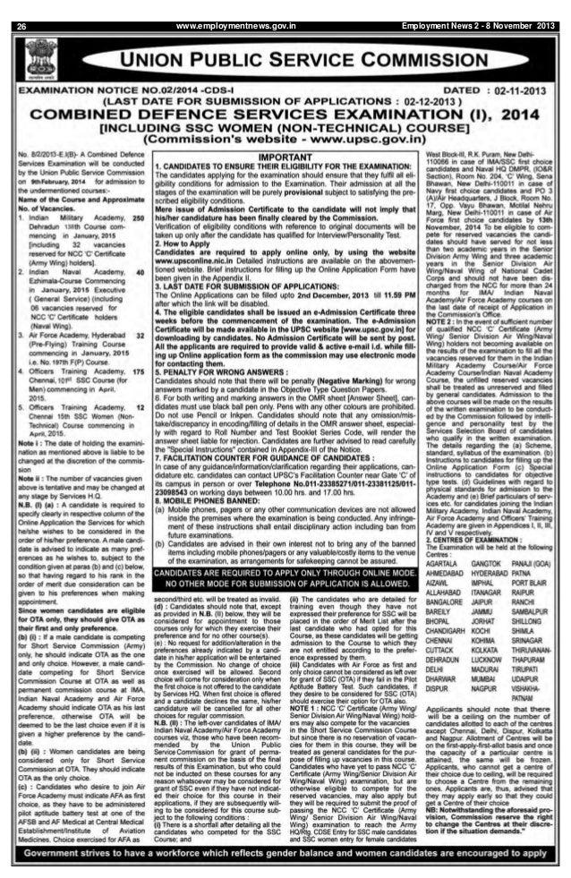 26  www.employmentnews.gov.in  Employment News 2 - 8 November 2013