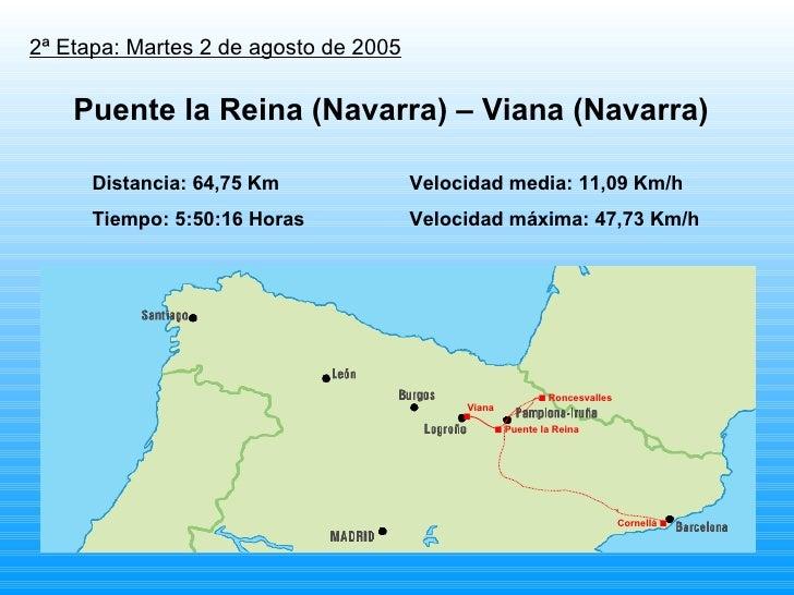 2ª Etapa: Martes 2 de agosto de 2005 Distancia: 64,75 Km Velocidad media: 11,09 Km/h Tiempo: 5:50:16 Horas Velocidad máxim...