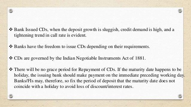 Certificate of deposit maturity date