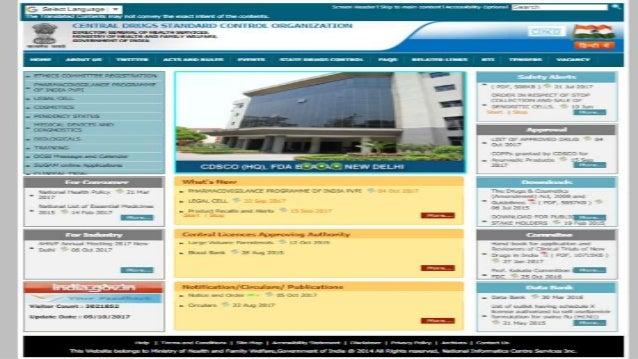 Cdsco- a regulatory overview Slide 3