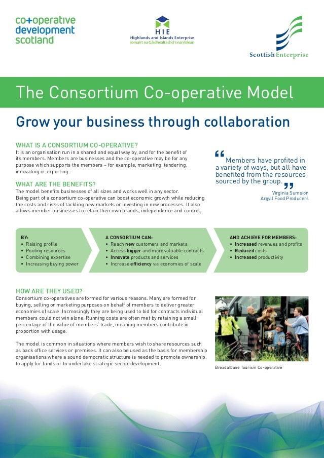 The Consortium Co Operative Model