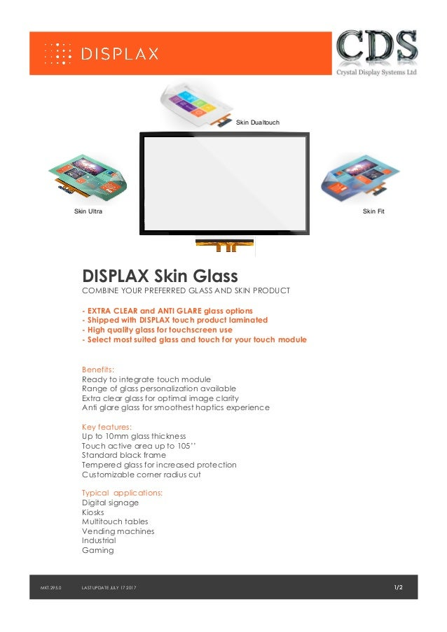 Skin Ultra 1/2LAST UPDATE JULY 17 2017 DISPLAX Skin Glass COMBINE YOUR PREFERRED GLASS AND SKIN PRODUCT - EXTRA CLEAR and ...