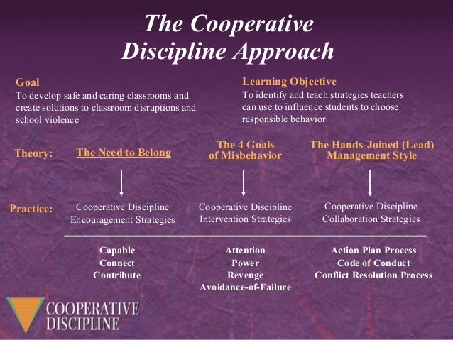 cooperative discipline from the regional training center