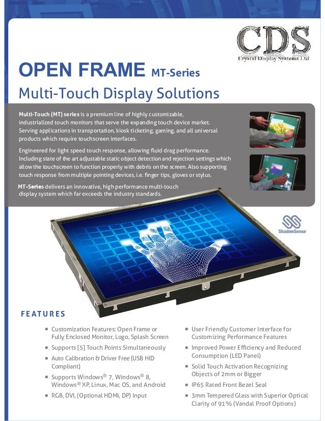 CDS Multi Touch Open Frame Monitors