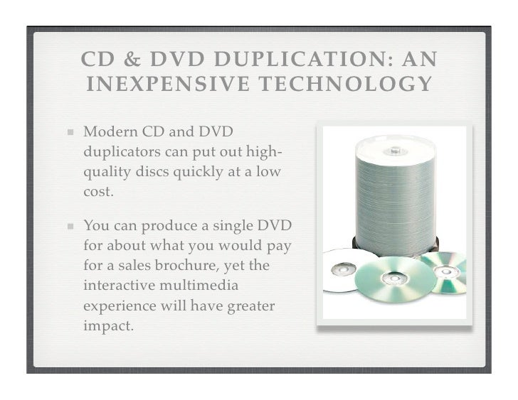 CD and DVD Duplication: Creating Multimedia Marketing
