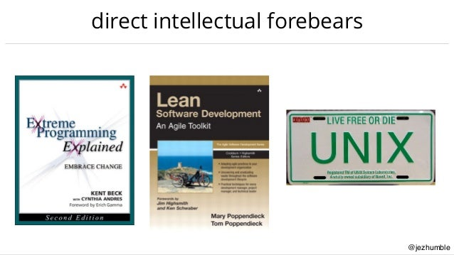 @jezhumble direct intellectual forebears