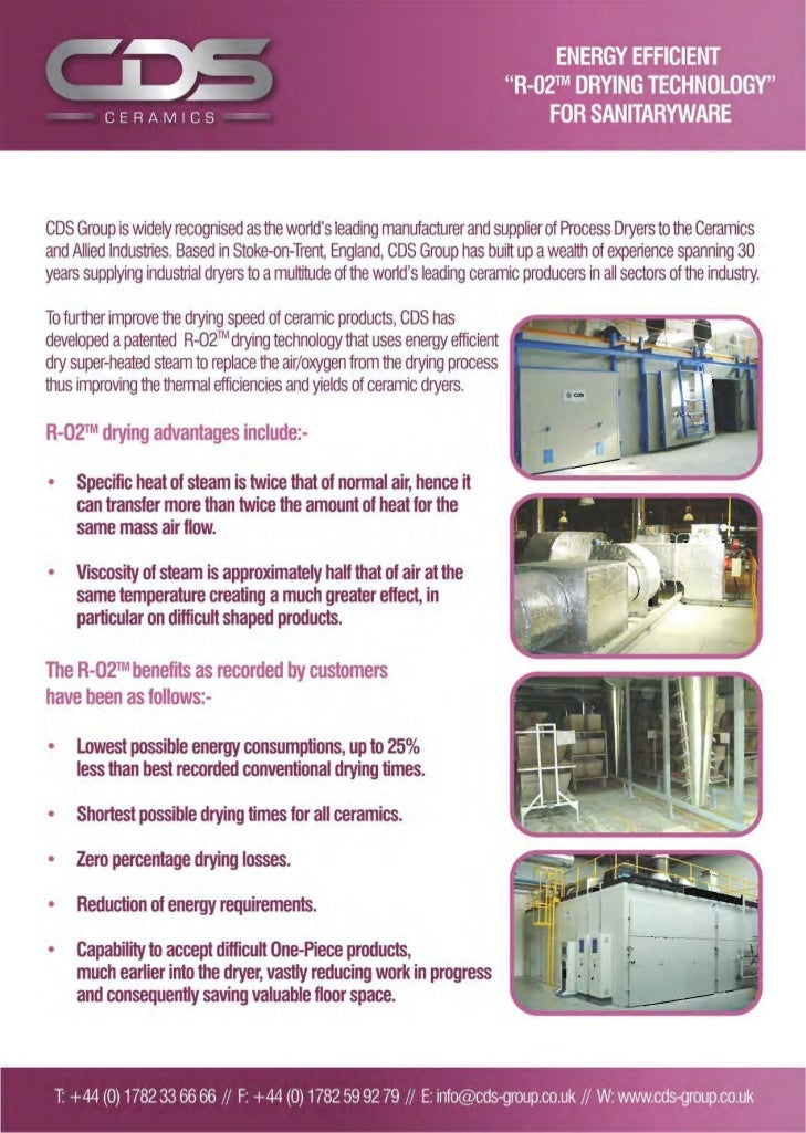 CDS R-O2 Drying Technology for Sanitaryware