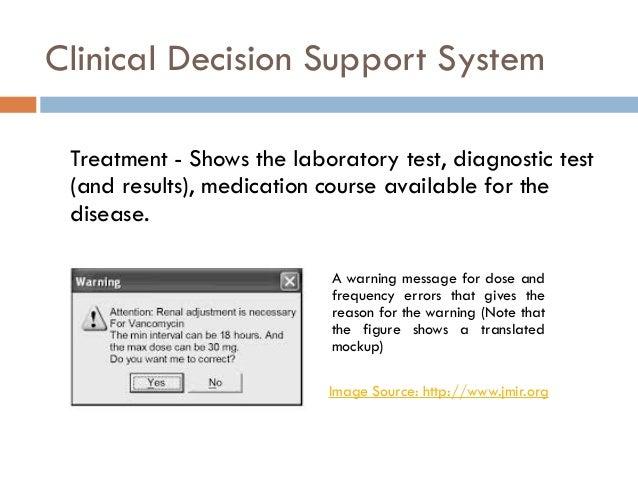 Clinical Decision Support Clinical Decision Support System