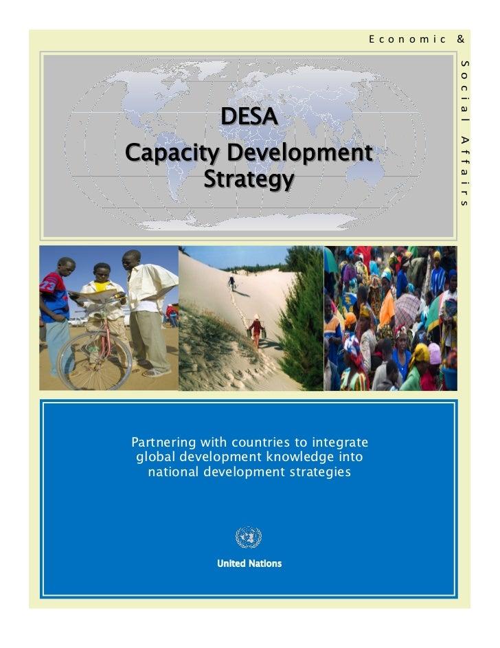 Economic   &                                                    S o c i a l              DESACapacity Development         ...