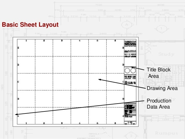Basic Sheet Layout Title Block Area Drawing Production Data 45