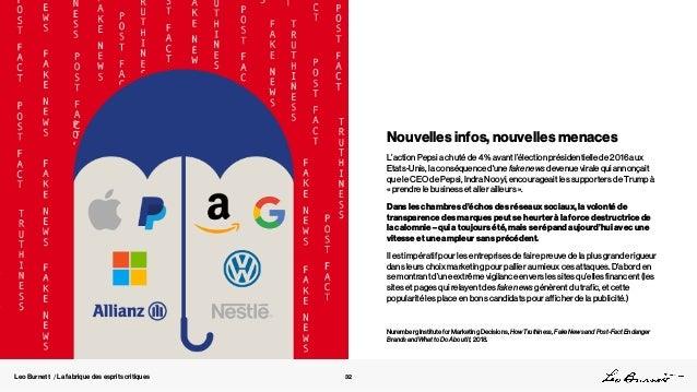 Leo Burnett / La fabrique des esprits critiques Nouvelles infos, nouvelles menaces L'action Pepsi a chuté de 4 % avant l'é...