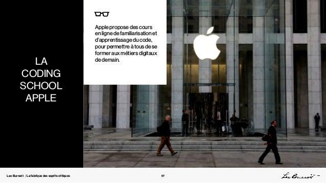 Leo Burnett / La fabrique des esprits critiques Apple propose des cours en ligne de familiarisation et d'apprentissage du ...