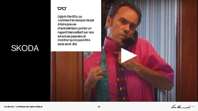 Leo Burnett / La fabrique des esprits critiques Ugly in the 90s, ou comment la marque réussi à faire preuve d'autodérision...