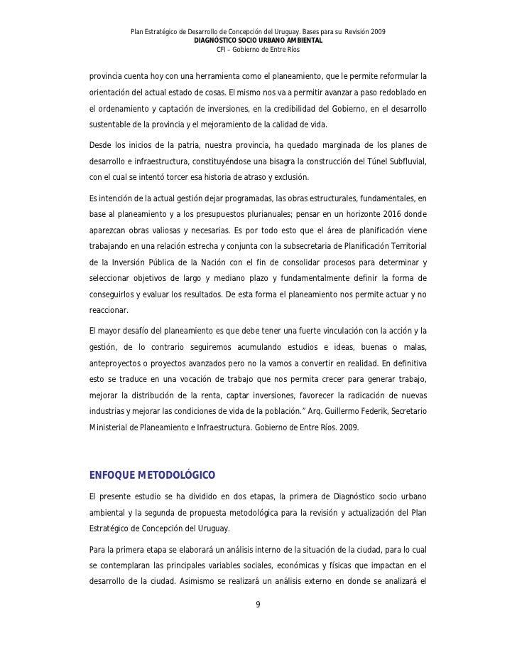 Plan Estratégico (diagnóstico) - Concepción del Uruguay 2010