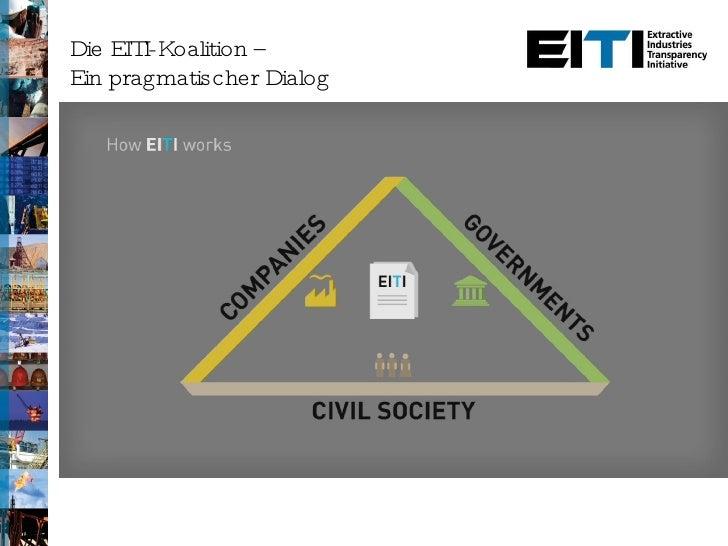 Die EITI-Koalition –  Ein pragmatischer Dialog