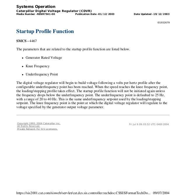 Cdvr service manual renr7941-00 _ sis - caterpillar