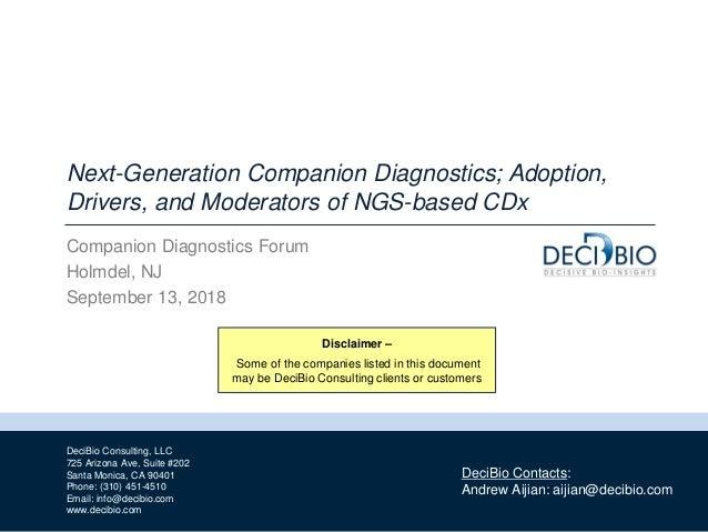 1 DeciBio Consulting, LLC 725 Arizona Ave, Suite #202 Santa Monica, CA 90401 Phone: (310) 451-4510 Email: info@decibio.com...