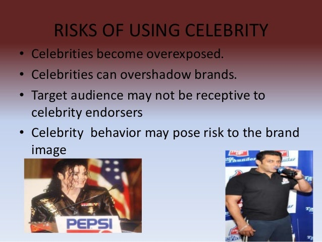 celebrity endoresement 22092010 celebrity endorsements have never gone out of vogue nor will they, because the rewards of relying on an endorser can far outweigh the risks.