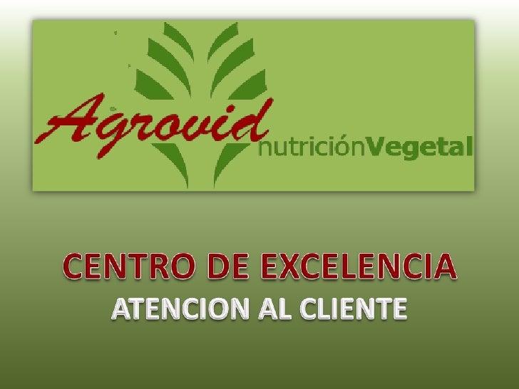 CENTRO DE EXCELENCIA<br />ATENCION AL CLIENTE<br />