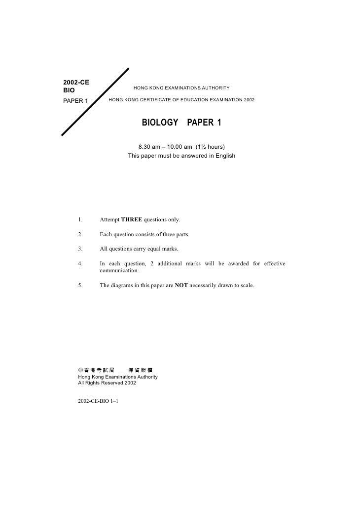 2002-CE                           HONG KONG EXAMINATIONS AUTHORITY BIO                 HONG KONG CERTIFICATE OF EDUCATION ...