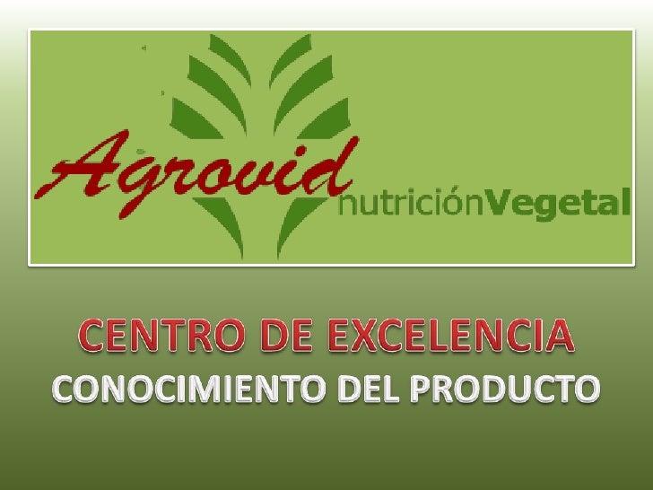CENTRO DE EXCELENCIA<br />CONOCIMIENTO DEL PRODUCTO<br />