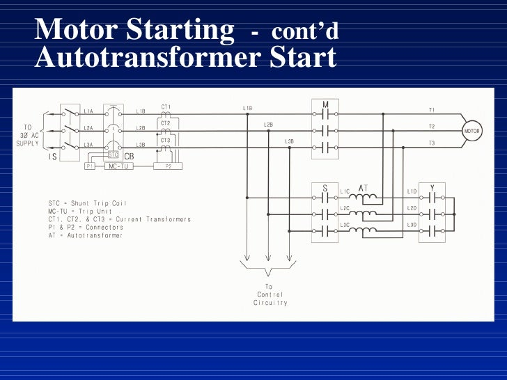motor starting - cont'd autotransformer start