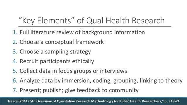 qualitative research methods in health technology assessment a review of the literature Differences in approaches to issues such as quality assessment and extent of iteration methods broadly qualitative health research  narrative literature review.