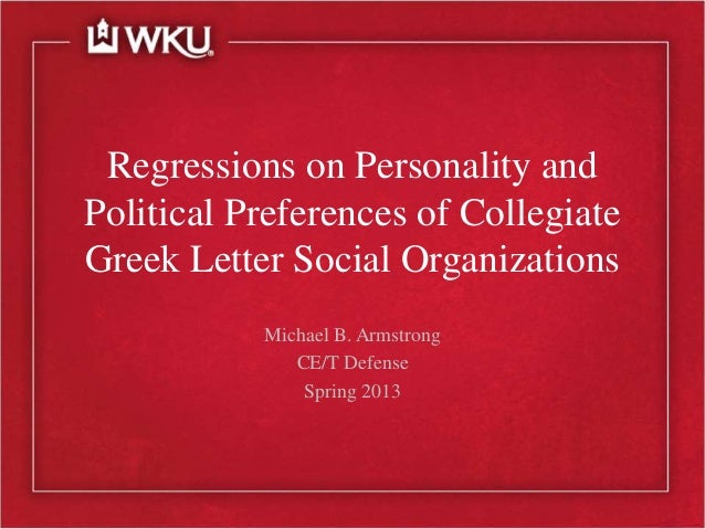 Regressions on Personality and Political Preferences of